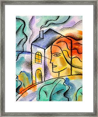My House Framed Print by Leon Zernitsky
