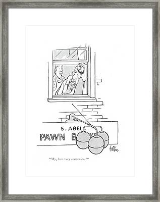 My, How Very Convenient! Framed Print by George Price
