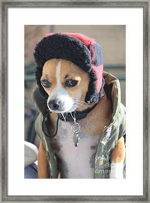 My Huntin' Dawg Framed Print