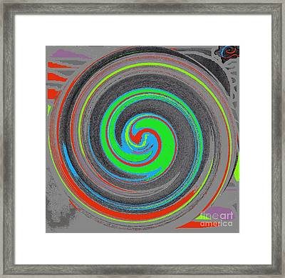 Framed Print featuring the digital art My Hurricane by Catherine Lott