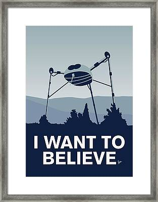 My I Want To Believe Minimal Poster-war-of-the-worlds Framed Print by Chungkong Art