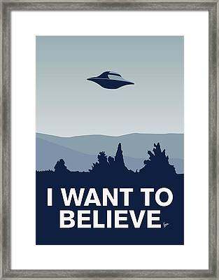 My I Want To Believe Minimal Poster-xfiles Framed Print