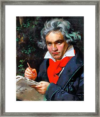 My Immortal Beloved - Beethoven Framed Print by Georgiana Romanovna