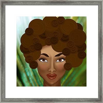 Framed Print featuring the photograph My Inner Nubian Goddess by Lisa Knechtel