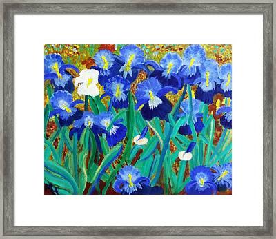 My Iris - Inspired  By Vangogh Framed Print