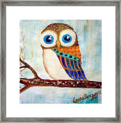My Jeweled Owl Framed Print by Laura Herzog