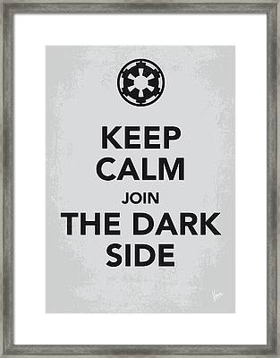 My Keep Calm Star Wars - Galactic Empire-poster Framed Print by Chungkong Art
