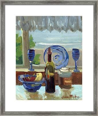 My Kitchen On Vashon Island Framed Print by Diane McClary