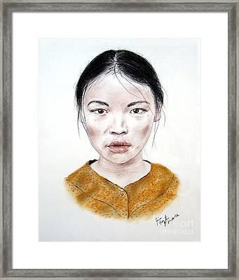 My Kuiama A Young Vietnamese Girl  Framed Print by Jim Fitzpatrick