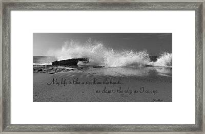 My Life In Black And White Framed Print by Heidi Smith