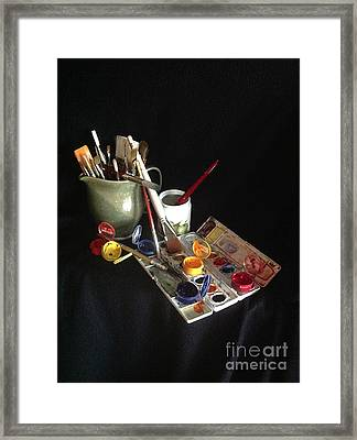 My Limited Palette Framed Print by Nan Wright