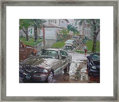 My Lincoln In The Rain Framed Print by Ylli Haruni