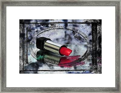 My Lips Are Red Framed Print by Randi Grace Nilsberg