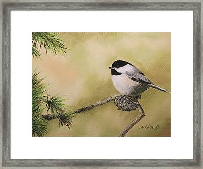 My Little Chickadee Framed Print by Marna Edwards Flavell
