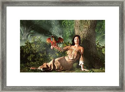 My Little Dragon Framed Print by Daniel Eskridge