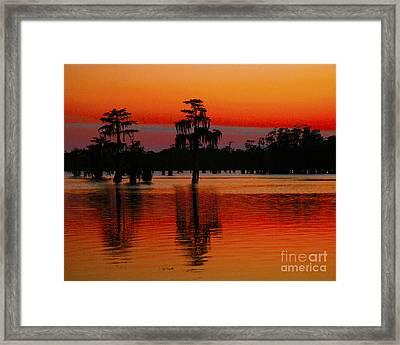 My Louisiana Heart Framed Print by Luana K Perez