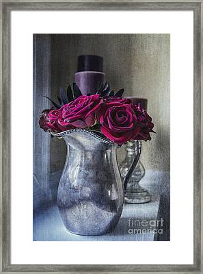 My Love Is Like A Red Red Rose Framed Print by Terry Rowe