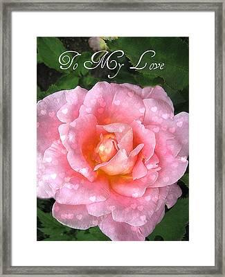 My Love Framed Print by Shirley Sirois