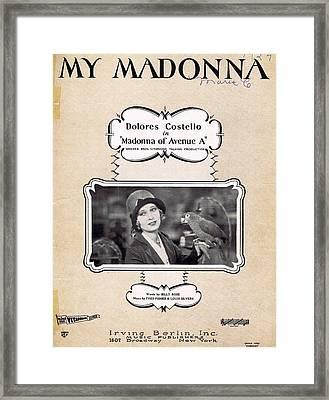 My Madonna Framed Print