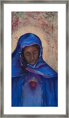 Framed Print featuring the painting My Magdalen Heart by Carla Woody