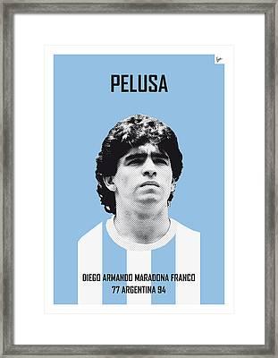 My Maradona Soccer Legend Poster Framed Print by Chungkong Art