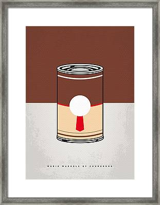 My Mario Warhols Minimal Can Poster-donkey Kong Framed Print