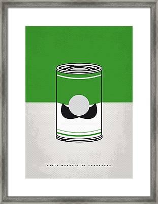 My Mario Warhols Minimal Can Poster-luigi Framed Print by Chungkong Art