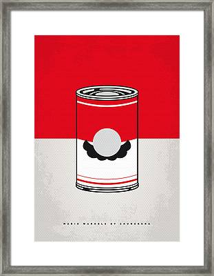 My Mario Warhols Minimal Can Poster-mario Framed Print