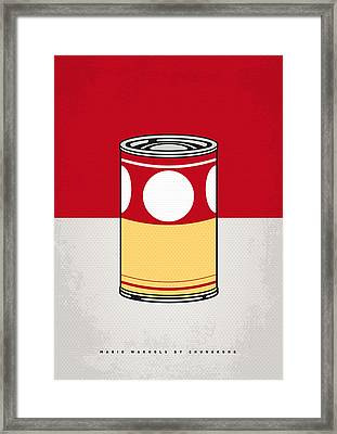 My Mario Warhols Minimal Can Poster-mushroom Framed Print by Chungkong Art