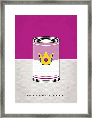 My Mario Warhols Minimal Can Poster-peach Framed Print