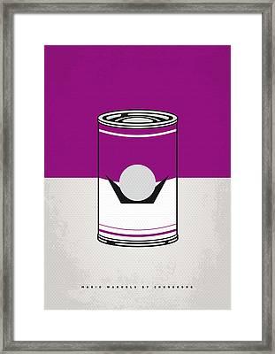 My Mario Warhols Minimal Can Poster-waluigi Framed Print