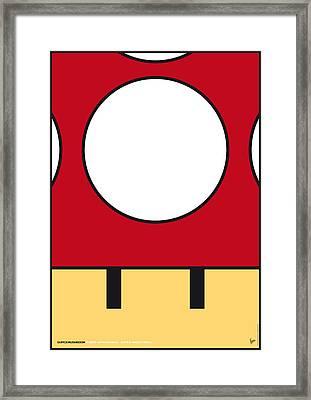 My Mariobros Fig 05a Minimal Poster Framed Print