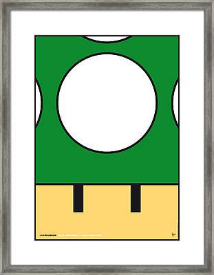 My Mariobros Fig 05b Minimal Poster Framed Print by Chungkong Art