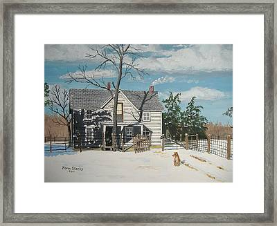 My Master Will Soon Be Home Framed Print by Norm Starks