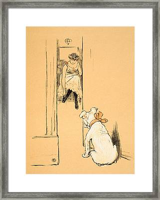 My Mistress Dressing Framed Print by Cecil Charles Windsor Aldin