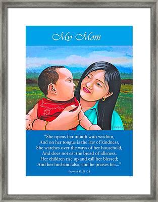 My Mom Framed Print by Cyril Maza