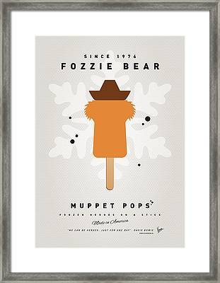 My Muppet Ice Pop - Fozzie Bear Framed Print by Chungkong Art