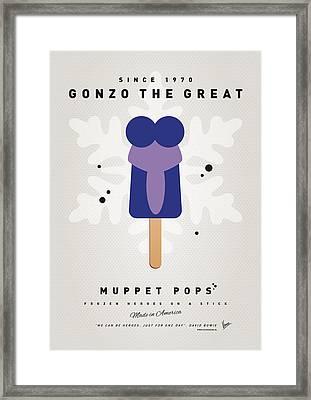 My Muppet Ice Pop - Gonzo Framed Print by Chungkong Art