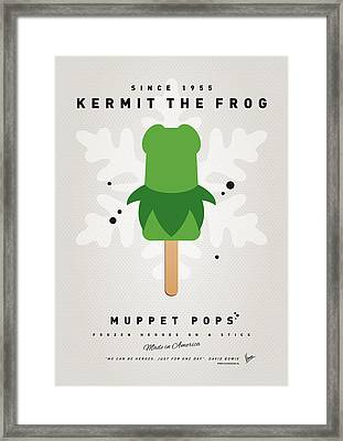 My Muppet Ice Pop - Kermit Framed Print