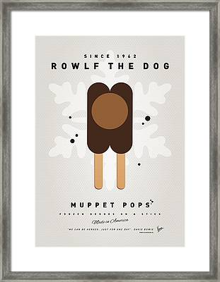 My Muppet Ice Pop - Rowlf Framed Print by Chungkong Art