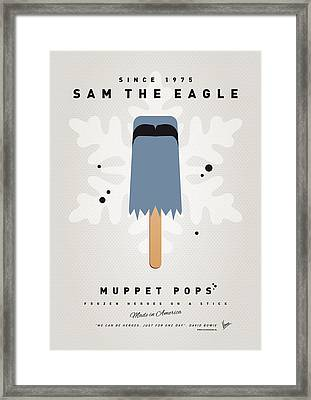 My Muppet Ice Pop - Sam The Eagle Framed Print by Chungkong Art