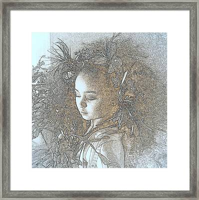 Framed Print featuring the photograph My Muse by Jodie Marie Anne Richardson Traugott          aka jm-ART