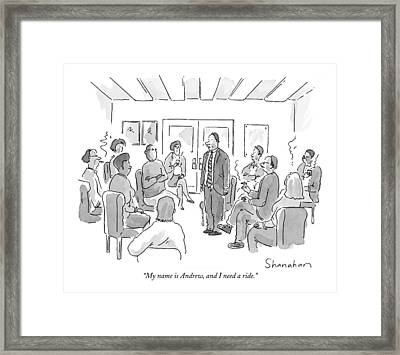 My Name Is Andrew Framed Print by Danny Shanahan