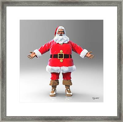 Framed Print featuring the sculpture My Name Is Santa by Dave Luebbert