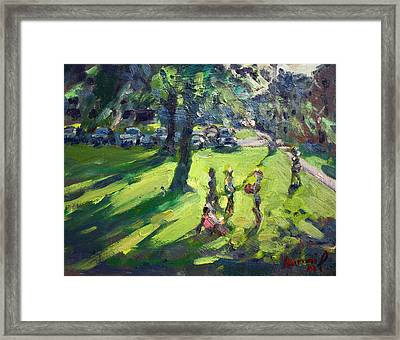 My Neighborhood Front Yard Framed Print by Ylli Haruni