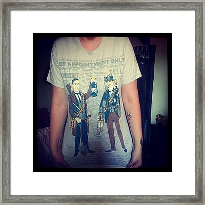 My New T-shirt (thanks To @pacy1988 & Framed Print