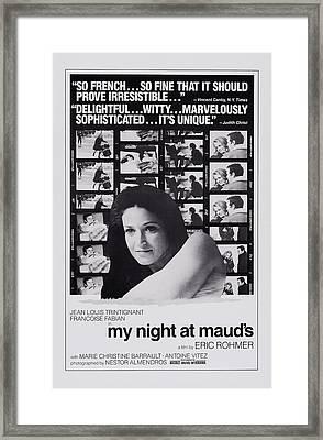 My Night At Mauds, Aka Ma Nuit Chez Framed Print by Everett