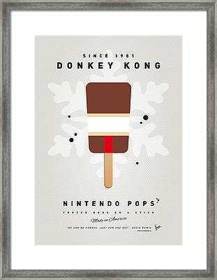 My Nintendo Ice Pop - Donkey Kong Framed Print by Chungkong Art