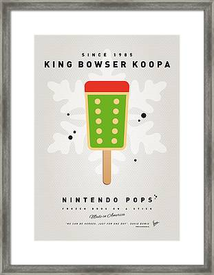 My Nintendo Ice Pop - King Bowser Framed Print by Chungkong Art