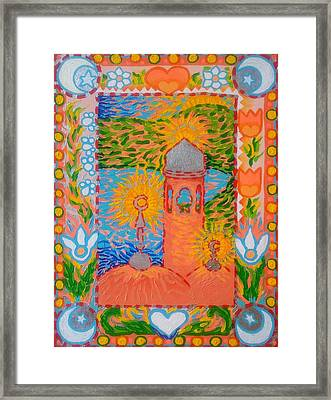 My Norwegian Folk Art Masjid Framed Print